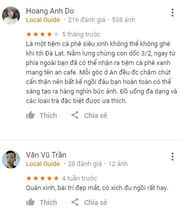 Review An Cafe Đà Lạt