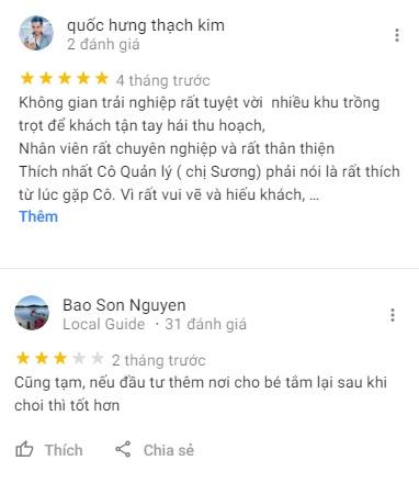 Đánh giá của khách tham quan về kdl Phú An Khang
